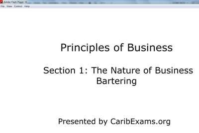 CXC Principles of Business